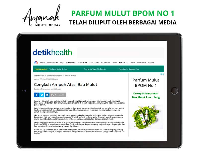 Amanah Fresh Mouth diliput Detik Health